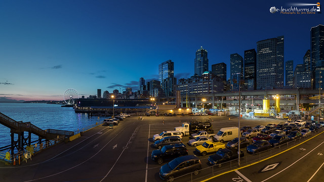 Seattle Ferry Terminal with Skyline