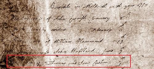 John C burial Meld 1778
