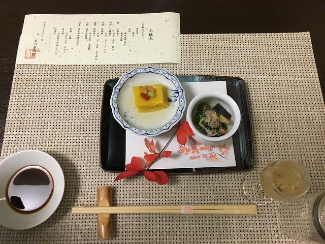 無花果甲州煮 & 南瓜豆腐