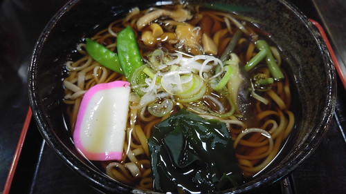 Buckwheat Soba Noodles with vegetables and mushrooms