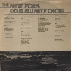 THE NEW YORK COMMUNITY CHOIR:THE NEW YORK COMMUNITY CHOIR(INNER 1)