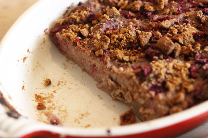 Speculoos and Raspberry Bread Pudding Recipe
