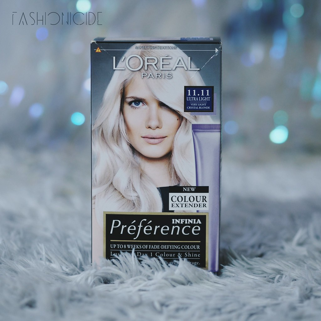 L'Oreal Preference Ultra Light Crystal White Blonde Platinum Hair Dye Bleach Black Asian Hair