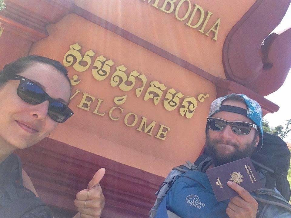 Frontière Laos Cambodge Arrivée