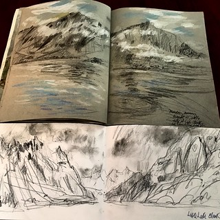 Spread from my Alaskan sketchbook.