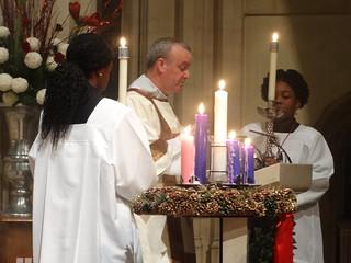 Deacon Paul Kyne reading the Gospel