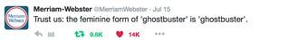 Female ghostbuster