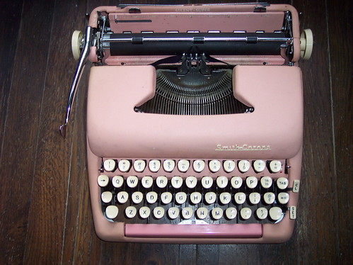 my pink typewriter | by lafemmededada