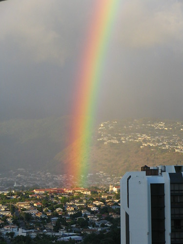 Rainbow over honolulu | by thomas pix
