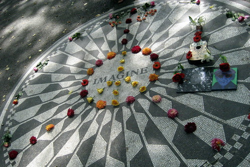 NYC - Central Park: Strawberry Fields - Imagine Mosaic