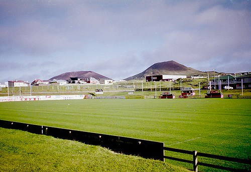 Volcanoes and football pitch