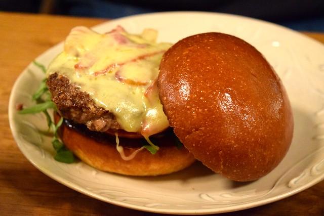Cheese & Bacon Burger at Haché x Holborn | www.rachelphipps.com @rachelphipps