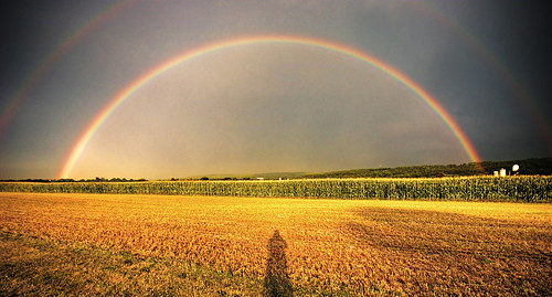 The Rainbow and the Photographer's Shadow | by dfworks