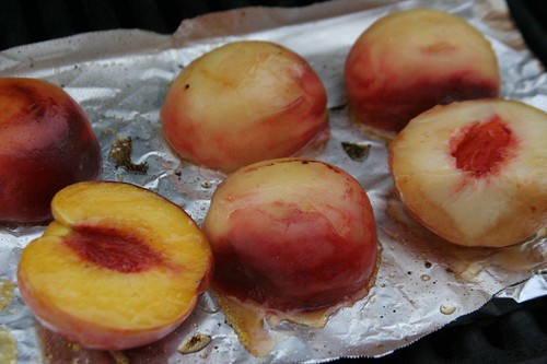 Dessert | Grilled peaches with sweetened sour cream and home ...