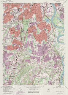 Hartford South Quadrangle 1992 - USGS Topographic Map 1:24,000 | by uconnlibrariesmagic
