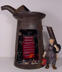 Mechanic & Old Oil Can 1:12 Scale Dollhouse Miniature | by MiniatureMadness