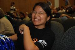 Jennifer Yuan of 1,000 Times No Hanging out at PodCamp Philly 2007 | by storyspinn