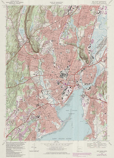 New Haven Quadrangle 1984 - USGS Topographic Map 1:24,000 | by uconnlibrariesmagic