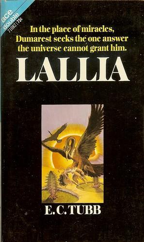 Dumarest Saga Book 6 - Lallia - E.C. Tubb - cover artist George Barr, 1st Publication 1st Edition