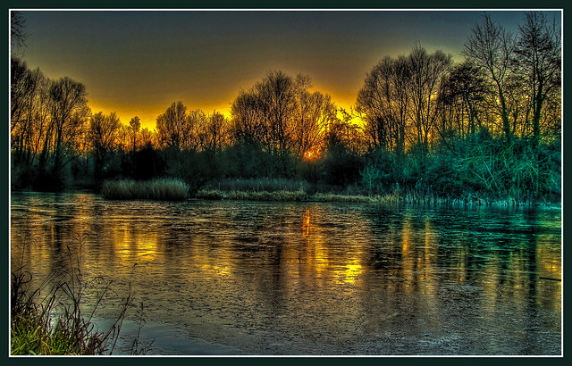 Ice on Anton Lake, Andover in HDR v2