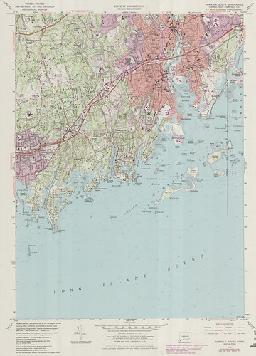 Norwalk South Quadrangle 1984 - USGS Topographic Map 1:24,000 | by uconnlibrariesmagic