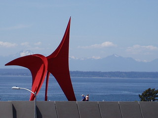 sculpture and mountains | by seamark