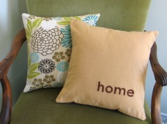 home - pillow cover | by pillowhead designs