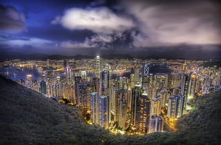 Hong Kong from the peak on a summer's night | by Stuck in Customs