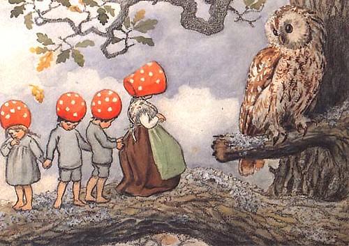 Tomtebobarnen | Mushroom Children and Teacher Owl Artist ...