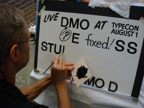John downer paints Helvetica by hand | by Nick Sherman