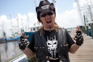 Billy the Exterminator shows his support for fisherfolk in Biloxi, MIssissippi - TEDx Oil Spill | by Kris Krug