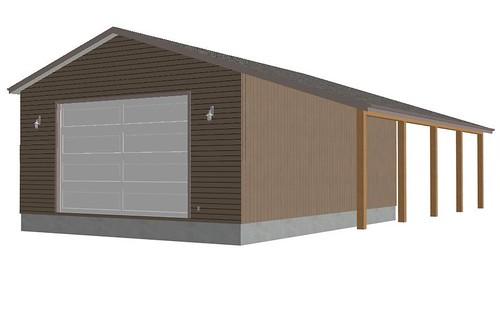 Rv garage plans sds g246 30 x 40 x 14 12 doors workshop for 12 x 14 garage door