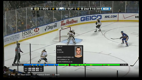 NHL GameCenter PS3 - Video Playback with Goal Info | by PlayStation.Blog