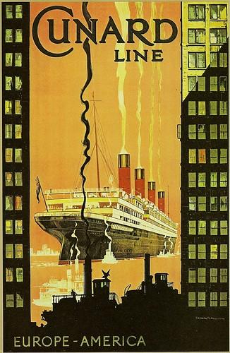 Rms Aquitania Cunard Lines Europe America Artist Ken