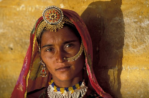 Portrait of woman wearing jewels. India | by World Bank Photo Collection