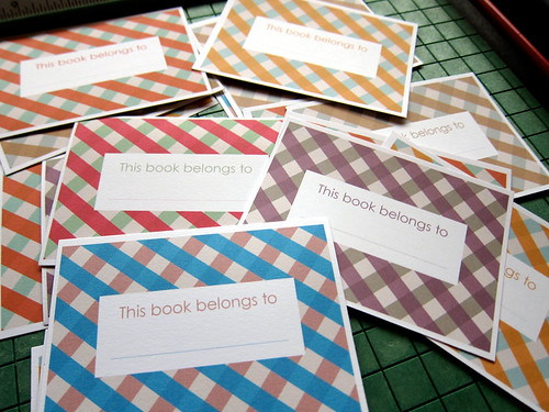 *new* vintage check bookplates | by you can count on me