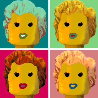 Marilyn - Warhol - Lego | by udronotto