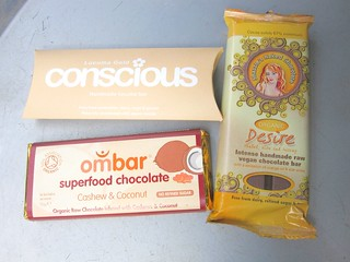 Raw Vegan Chocolate (Conscious, ombar, Shazzie's Naked Chocolate) | by veganbackpacker