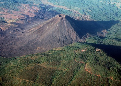 "Volcano near San Salvador... Izalco --                    ""relatively new"" 