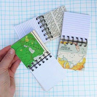 Day 4 #robayre100days I sold my last little book like this a couple of days ago and so I spent some time cutting collating and assembly some new ones today. I added vintage sheet music pages and prints of my scribble ruled paper as well. Perfect for addin