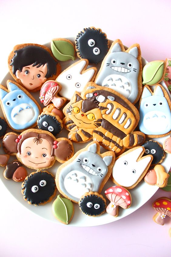 My Neighbor Totoro icing cookies by Y&Csweets