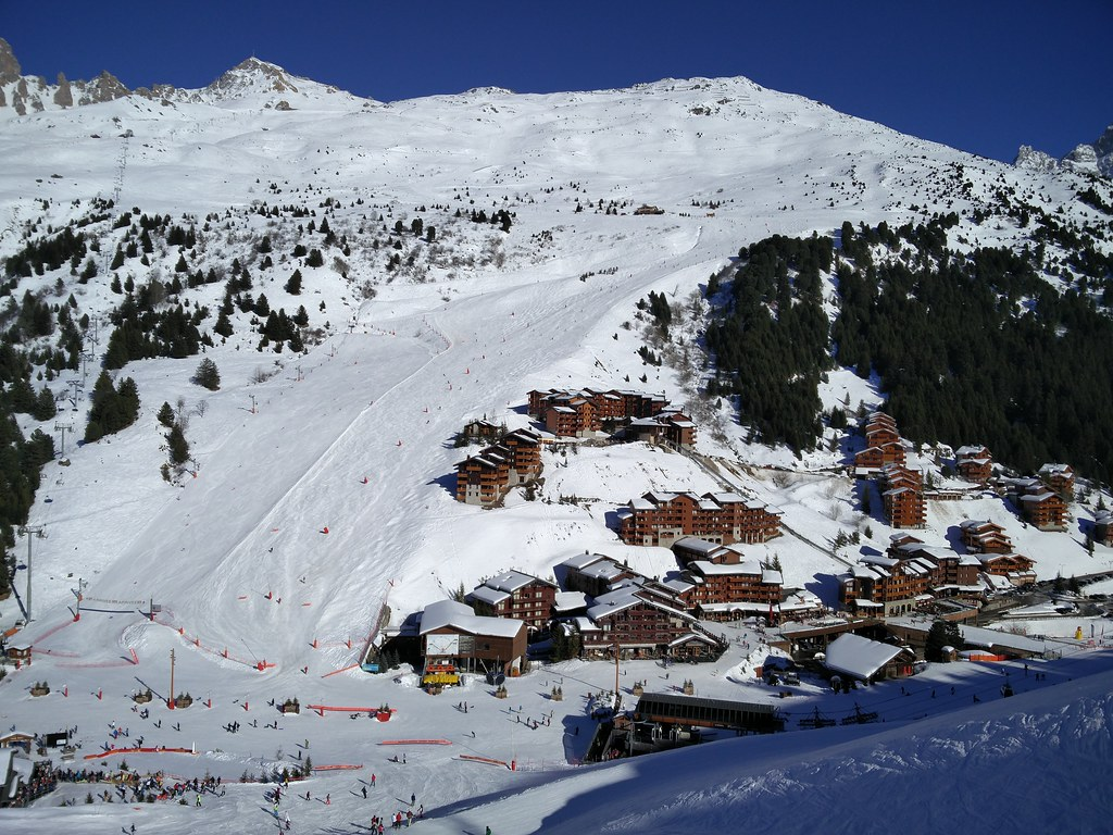 Aigle ski trail into Meribel-Mottaret