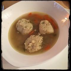 #Matzo #MatzoBall #soup #homemade #CucinaDelloZio - serve balls w/Soup