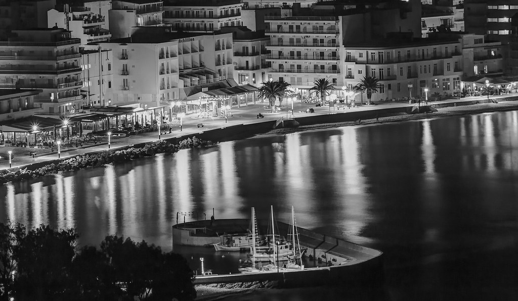 Romantic night view of Loutraki