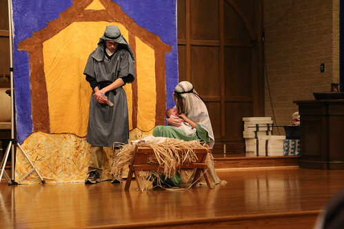 Holy Family in Christmas Pageant