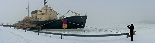 Embarking on the Arctic icebreaking cruise