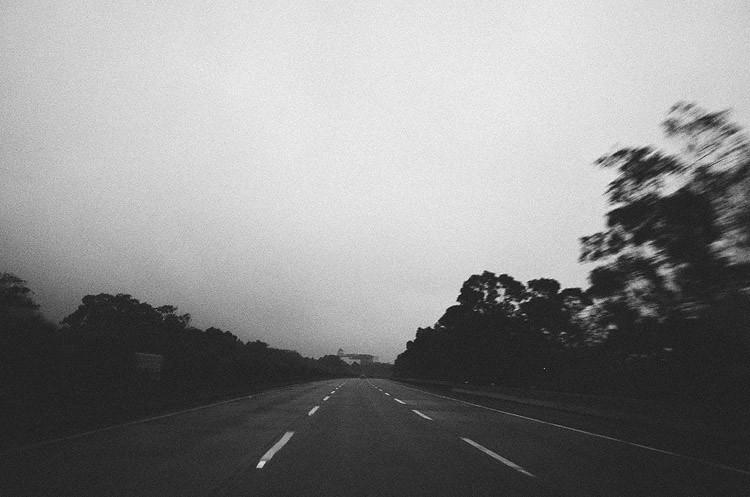 心象攝影-道路,黑白
