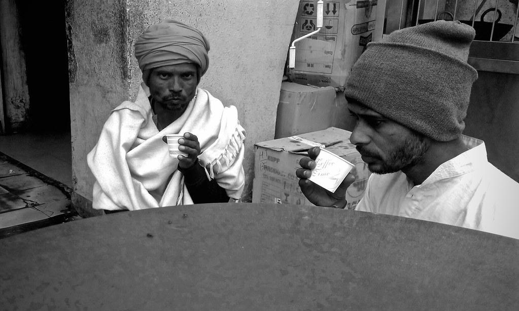 145838: Men Drinking Tea