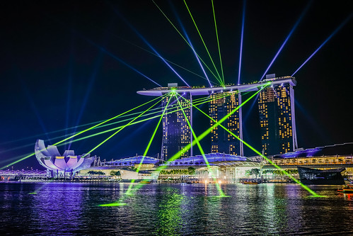 Light Show at Marina Bay Sands