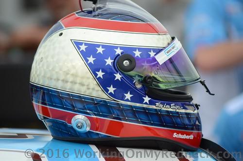 Danica Patfick's helmet